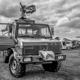 UNIMOG a Study in Black & White at the Carlisle Car show
