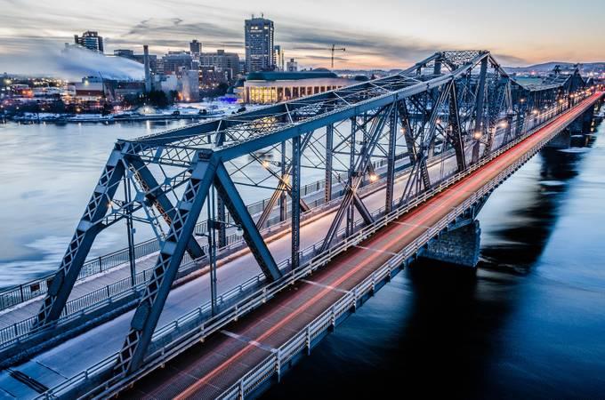 Alexandra Bridge - Sunset by eNasser - Metallic Matter Photo Contest