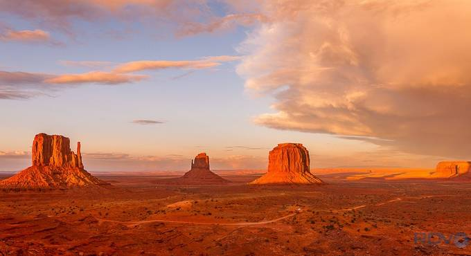 Monument Valley Stormy Sunset by RDVPhotography - Monthly Pro Vol 10 Photo Contest