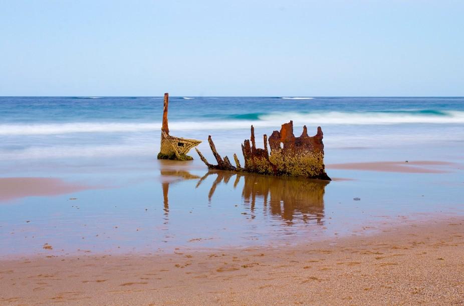 shipwreck SS Dicky at Dicky Beach Australia