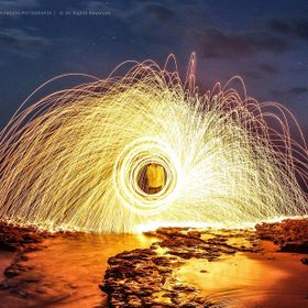 In a beach near my house. Ericeira, Portugal. My first experiment with steel wool.