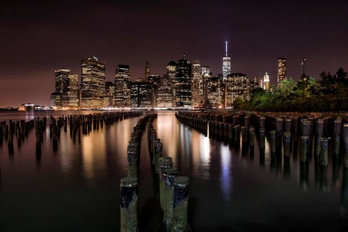 New York Skyline Color by BensViewfinder - Light On Water Photo Contest