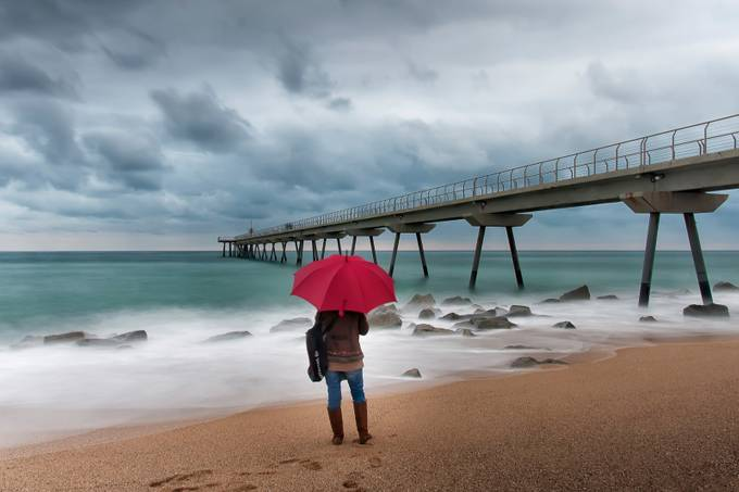 Red Umbrella by Sanmi - Photos With Filters Photo Contest