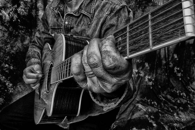 playin the blues by Kcable - Awesomeness In Black And White Photo Contest