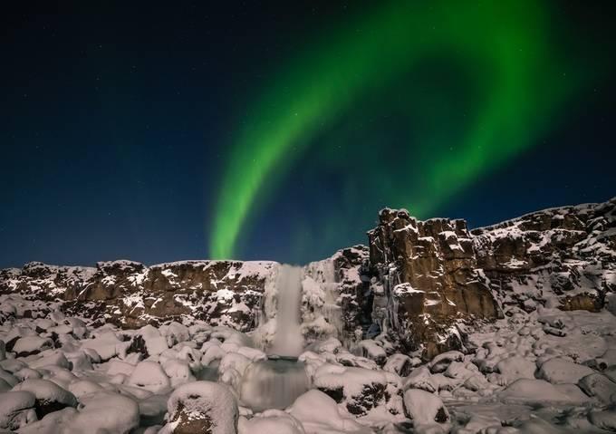Frozen waterfall by GulliVals