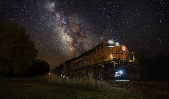 Cosmic Railroad by aaronjgroen - Layers and Composition Photo Contest