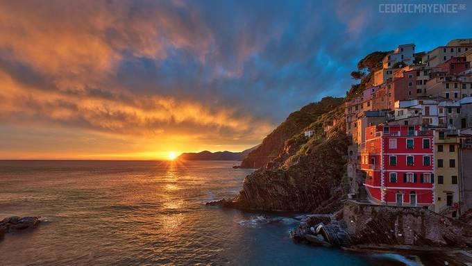 Riomaggiore - Cinque Terre - Italy by CedricMayence - Sunrise Or Sunset Photo Contest