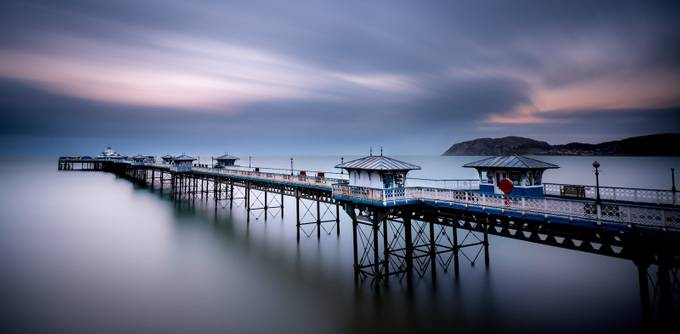 Llandudno pier by cedricquillet - Cloud Painting Photo Contest
