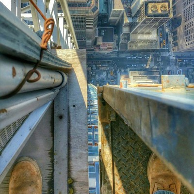 Looking down at the concrete Jungle  NY City #concretejungle #nycity #uptow