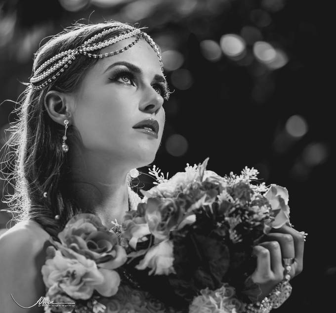 Angelic in B&W by viven - Fill Flash Photo Contest