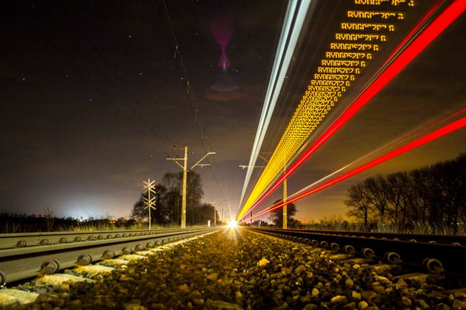 Train at night by piotrzarzycki - Pushing Limits Photo Contest