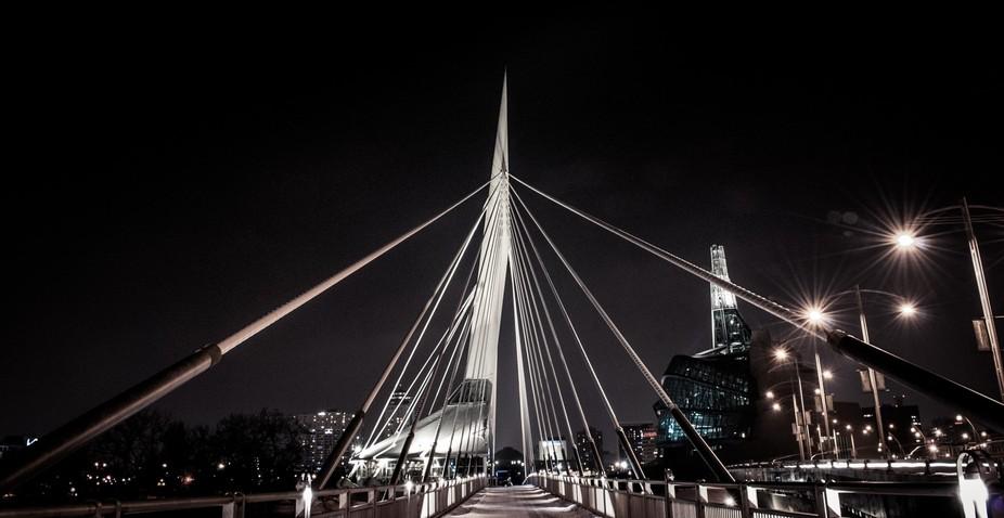 Walking bridge in Winnipeg, Manitoba