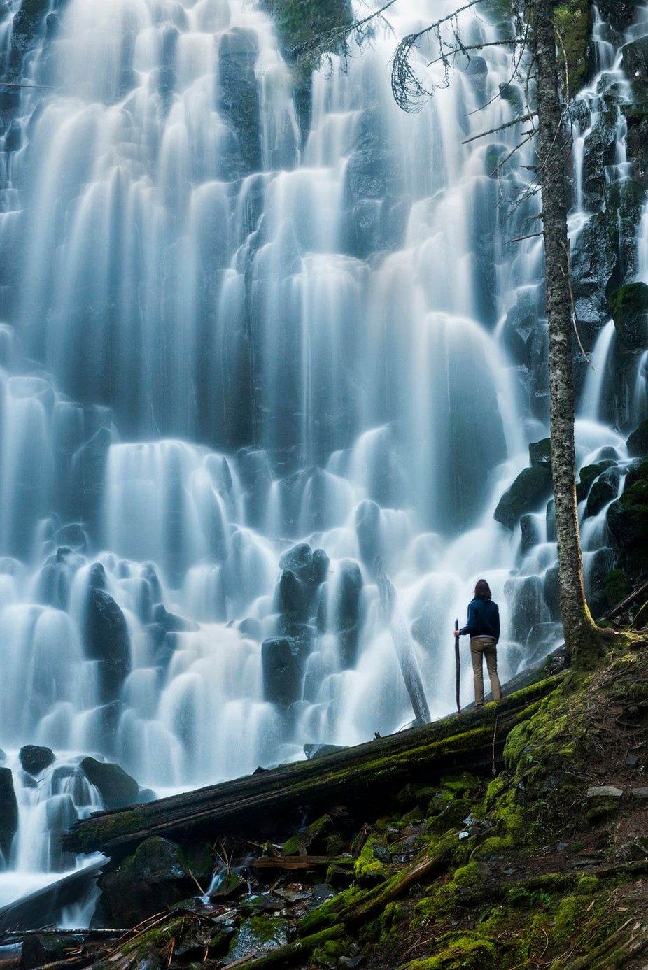 Amazing Falls by intheloupe - People And Waterfalls Photo Contest