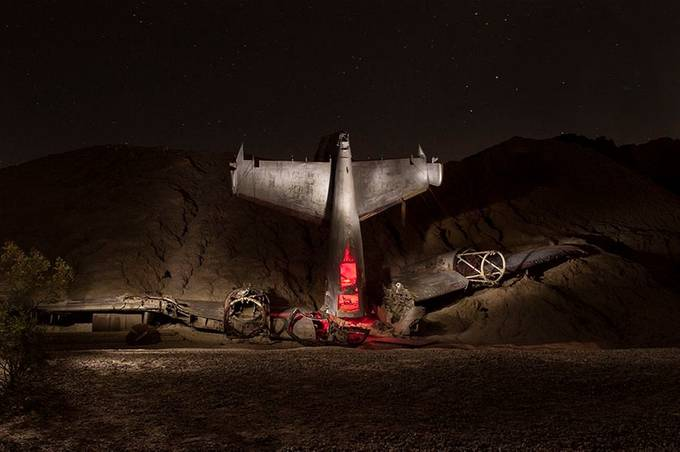 Plane Crash Light Painting by mmunksgard - Metallic Matter Photo Contest
