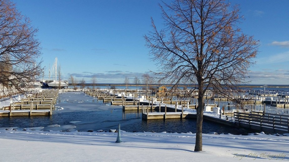 Beautiful day in the Lower Harbor in Marquette, MI.