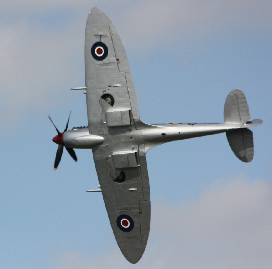 Real Spitfire in the sky looks like a plastic model tho from a day out at an RAF air display