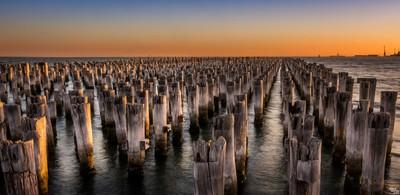 Sunset at Princes Pier Melbourne