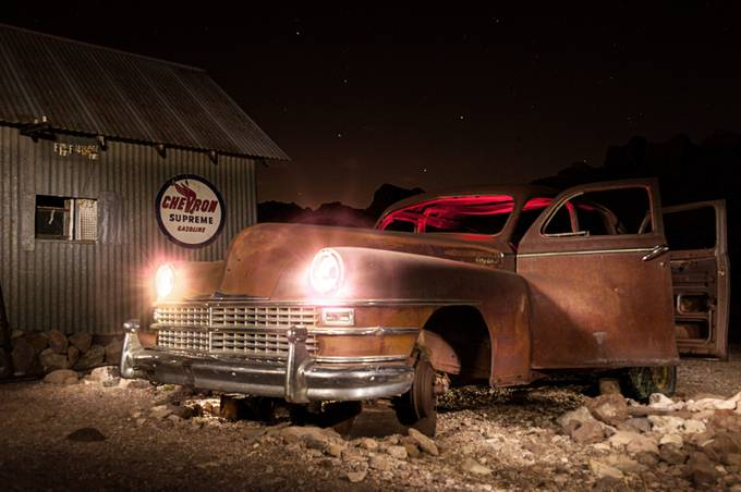 Old Car Light Painting by mmunksgard - My Favorite Car Photo Contest