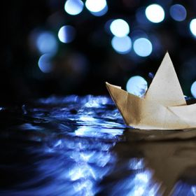 sailing the year out with a paper boat into a better dreams :)