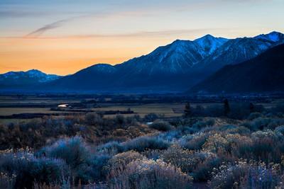 Last Light on Carson Valley