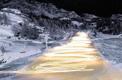 Torchlight descent in Valgrisenche