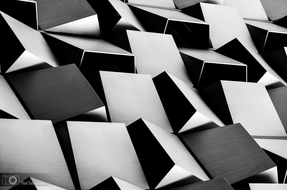 This is a detail image of the Cheese Grater car park\'s facade. Really like the aggressive and cha...