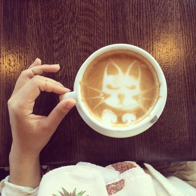 kitty cappuccino