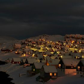 Nuuk by night