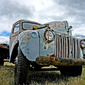 Old truck was for sale in Rathdrum, Idaho.