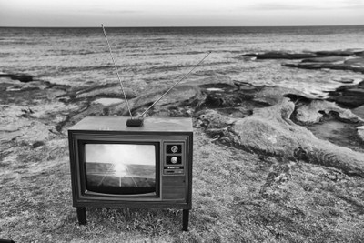 tv on beach