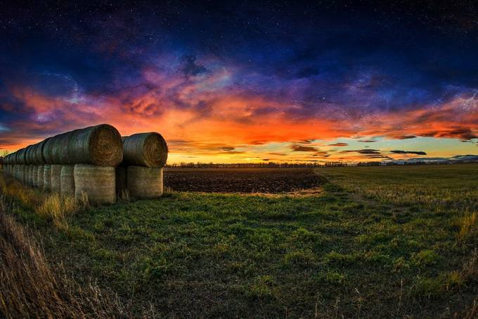 Galaxy sunset by HazerLive - Farms And Barns Photo Contest