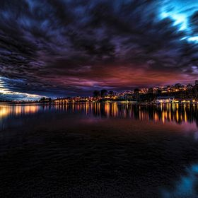 There was a break between storms today, so I went to Lake Mission Viejo by our home to take sunset shots. This image was taken just after sunset....