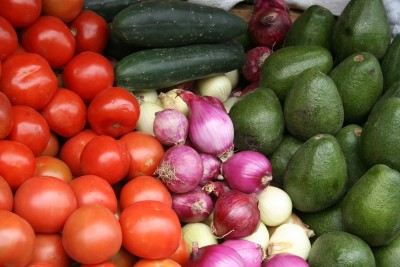 Vegetables at the Otavalo Market