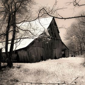 Barn in Sepia