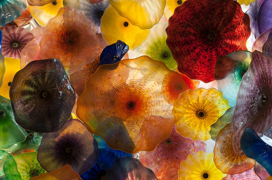 Fiori di Como, famous glass sculpture in Bellagio, Las Vegas, Nevada