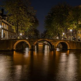 One of the beautiful view of Amsterdam inner city centre canals.