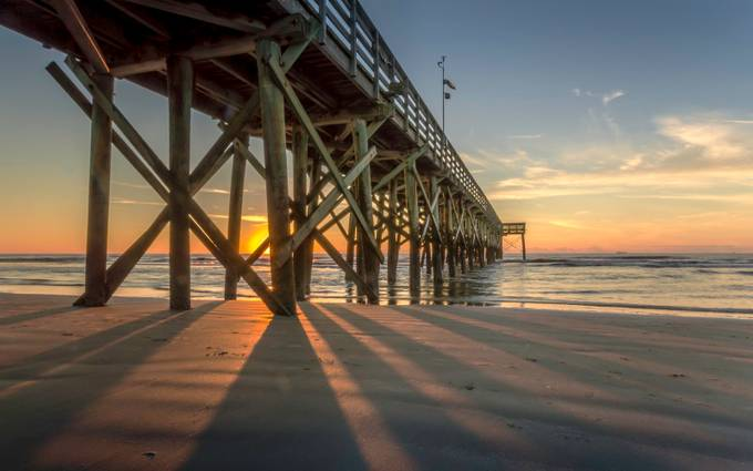Isle of Palms Pier 4 by nigelwatts - The View Under The Pier Photo Contest