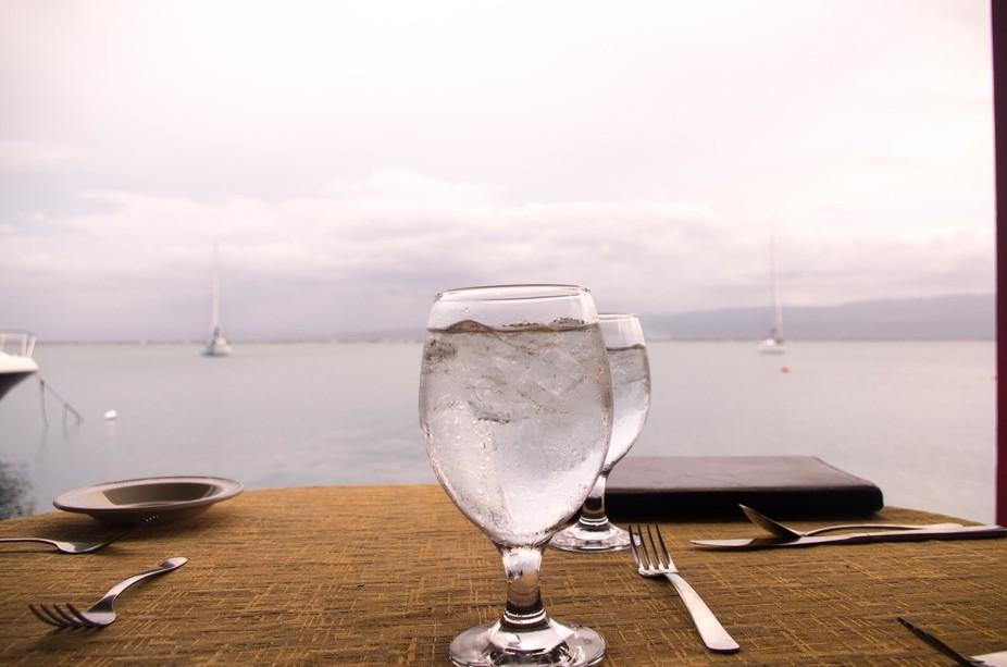 Dining on the sea coast