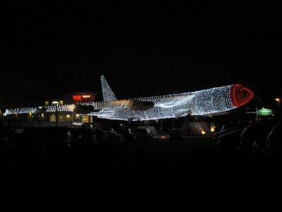 Holiday Lights on B52 Bomber