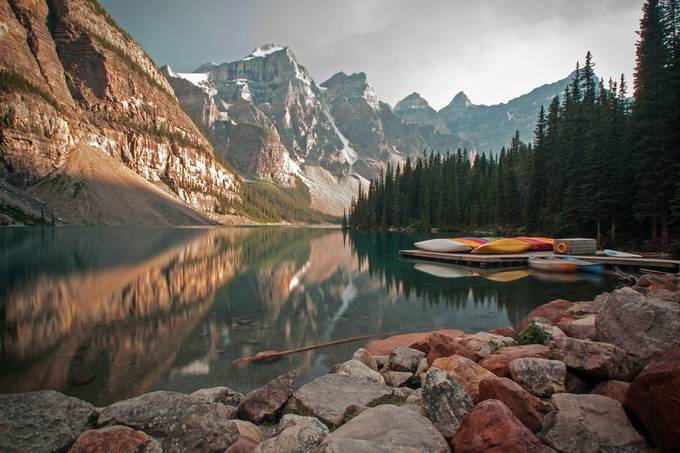 Moraine Lake Reflection by walasavagephoto - Zen Photo Contest