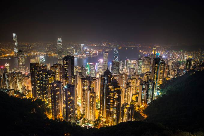 Hong Kong from Victoria Peak by davidyack - City In The Night Photo Contest