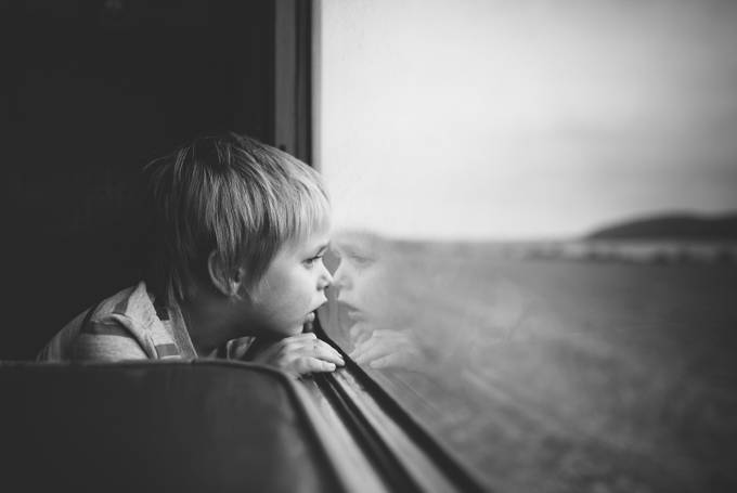 On the Train by mushroomgodmat - The Face in the Mirror Photo Contest