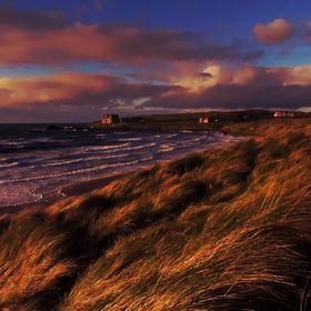 Portballintrae beach Northern Ireland on a late October afternoon