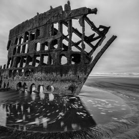 A photograph from a shipwreck from the year 1906 on the coast of Oregon. For once photographing in stormy weather proved a positive instead of ne...