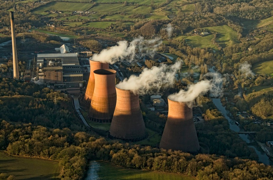 Iron bridge power station from 1100ft  and published in the Shropshire Star   http://www.shropshi...