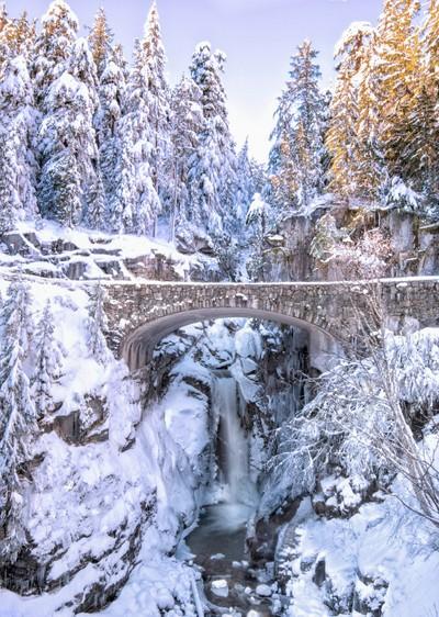 Winter in Mt Rainier Park