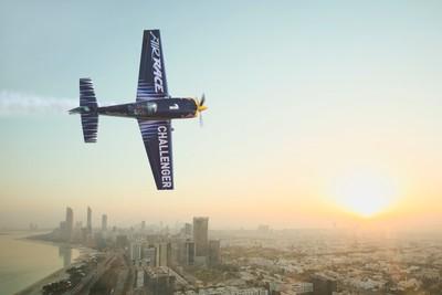 Red Bull challenger Daniel Ryfa above Abu Dhabi