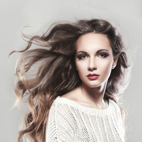 beautiful young woman with flying hair, fine art portrait