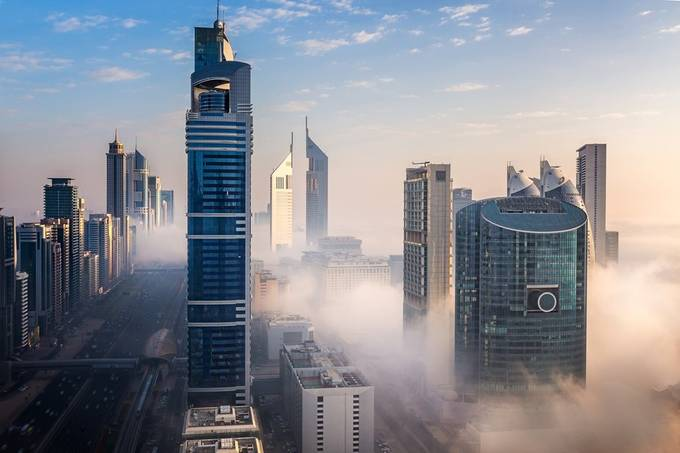 Dubai Fog by Joerg - Rooftops Photo Contest 2018