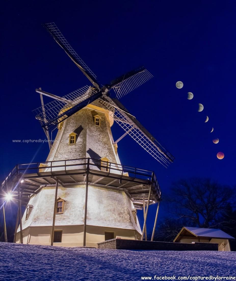Windmill Eclipse by LorraineMahoney - 200 Windmills Photo Contest